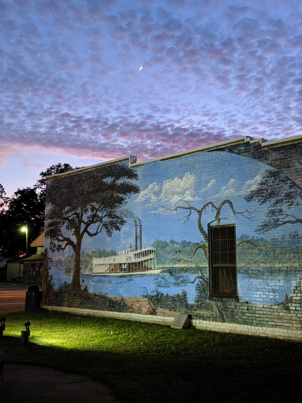 Image of the Chattahoochee Mural painting of a steamboat.
