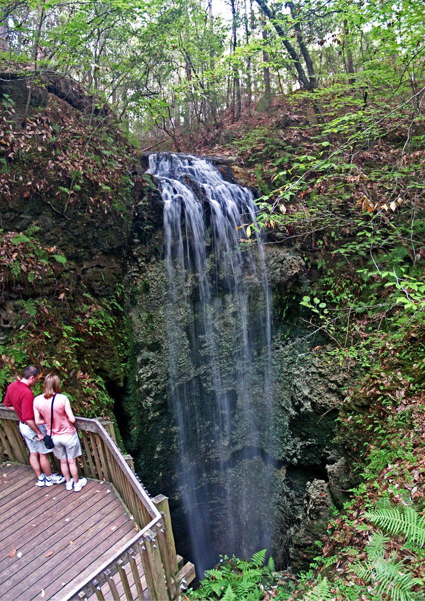 Image of couple overlooking a waterfall.