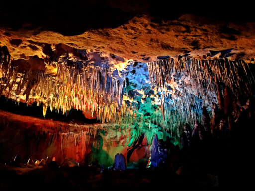 Inside the main cave at Florida Cavern's State Park.