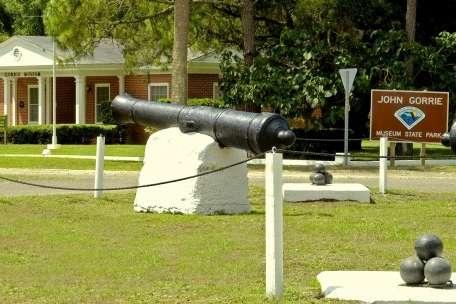 Image of the cannon located at John Gorrie State Park.