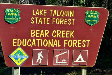 Image of the Lake Talquin State Forest sign.