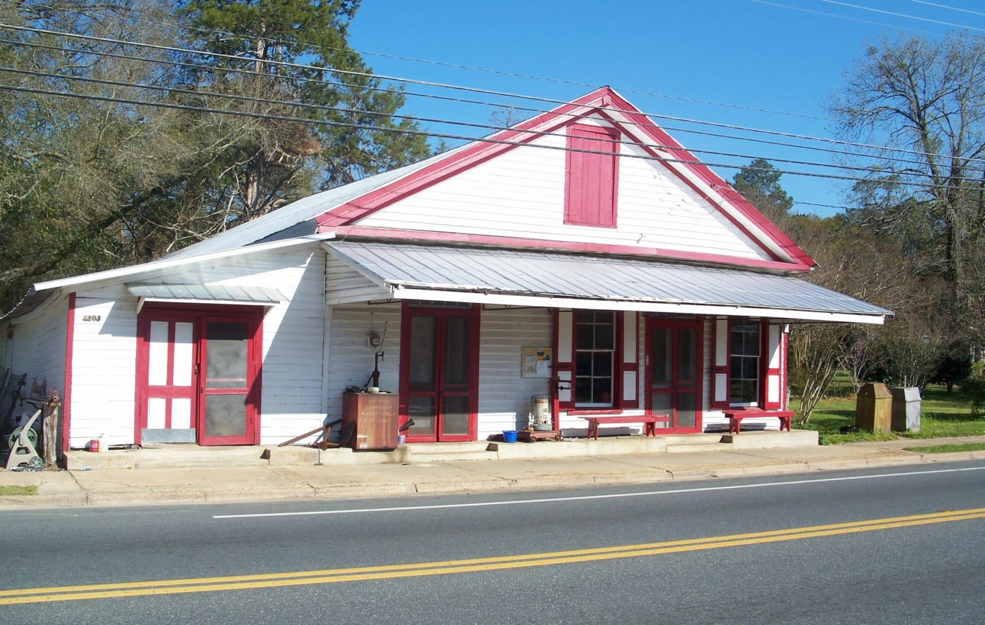 The front of Pender's Store from the road.