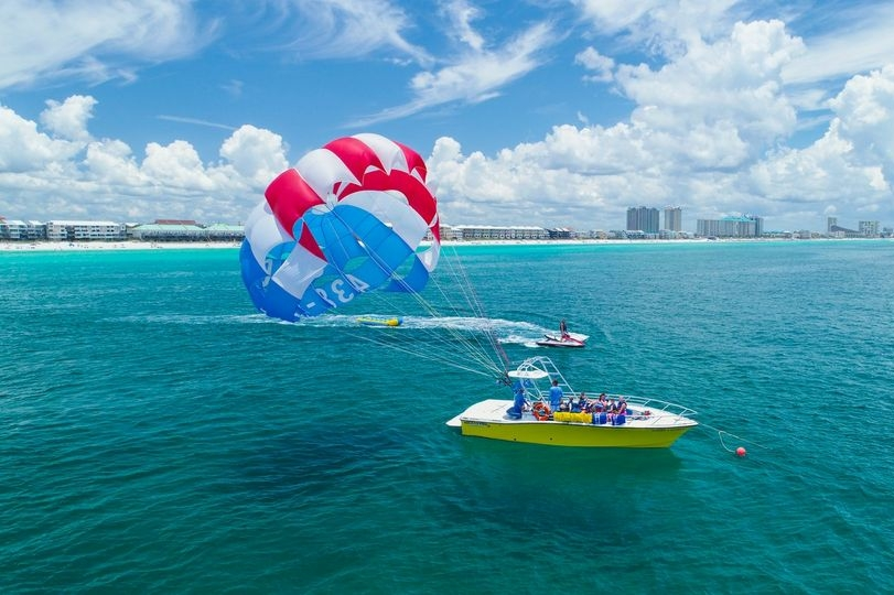 Parasailing in the gulf of Mexico.