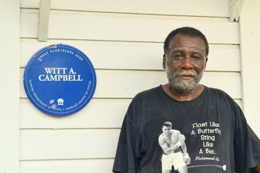 Image of Whit A. Campbell Memorial Marker.